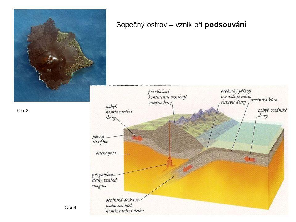 Sopečný ostrov – vznik při podsouvání