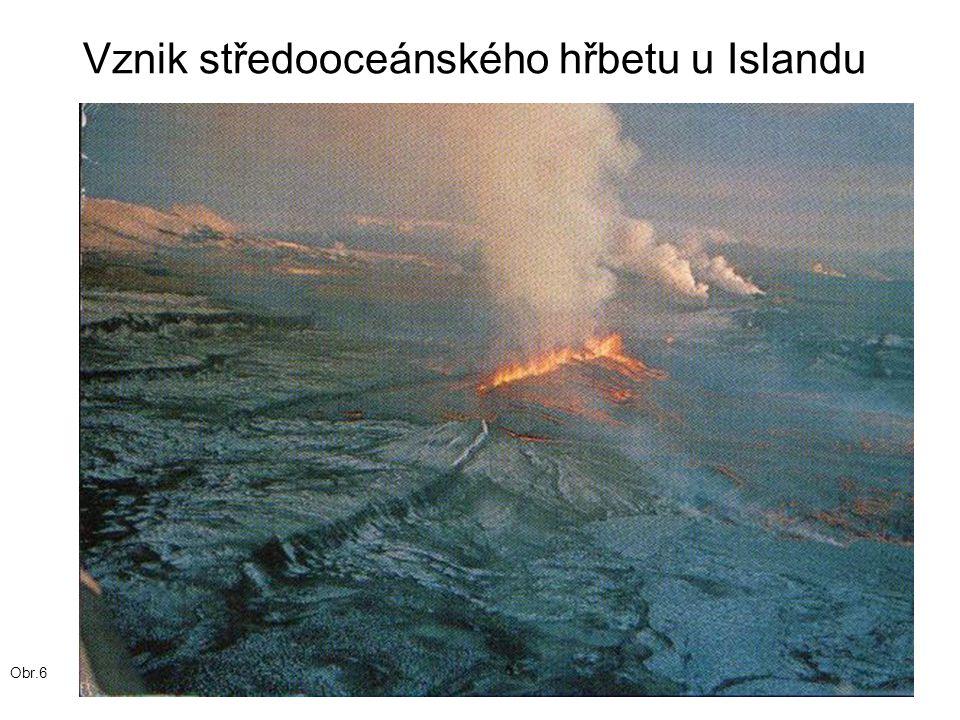 Vznik středooceánského hřbetu u Islandu