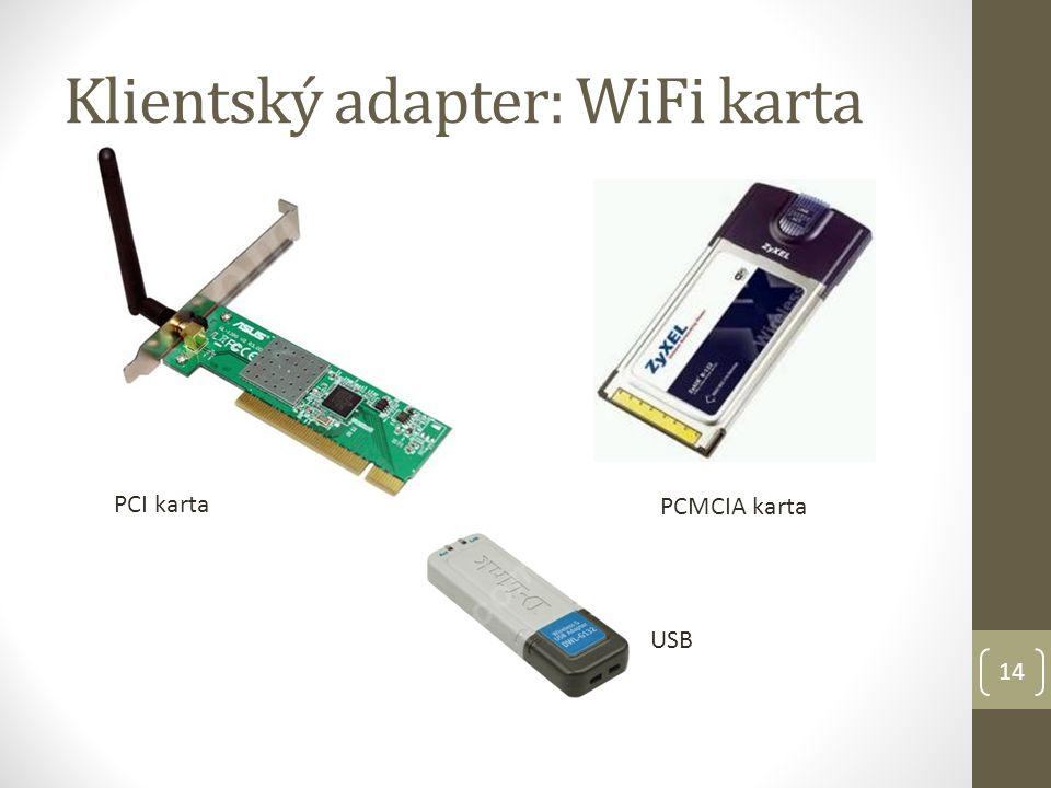 Klientský adapter: WiFi karta