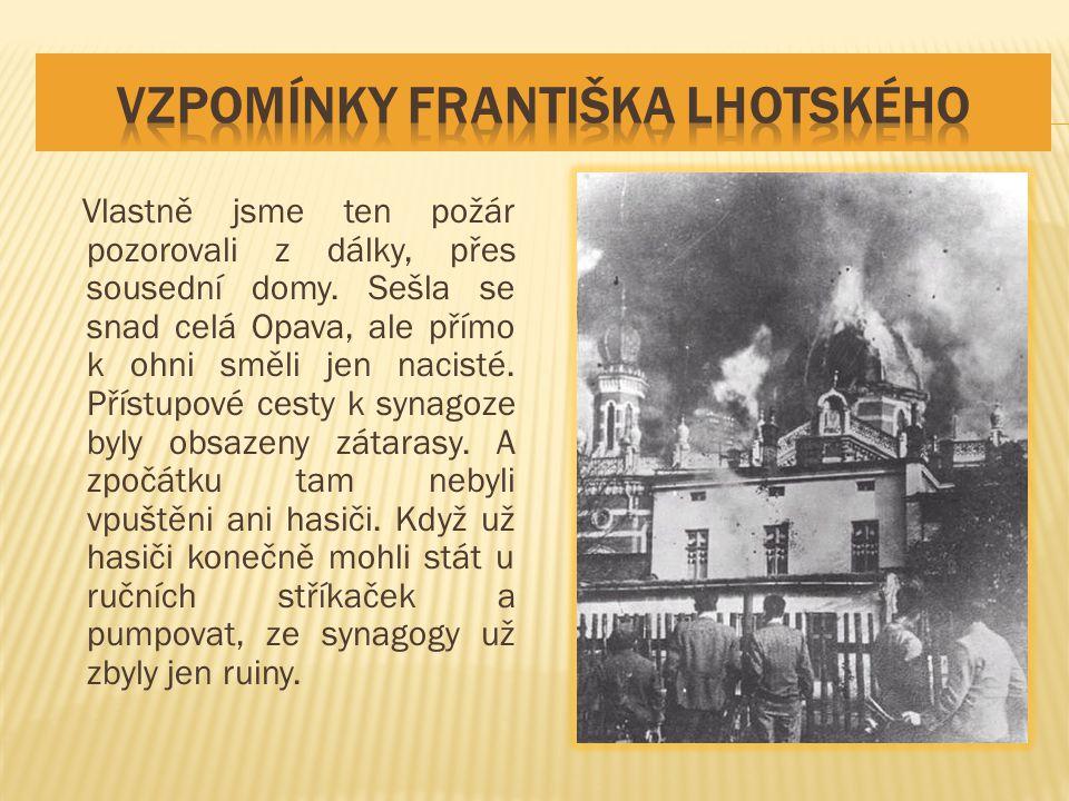 vzpomínky Františka Lhotského