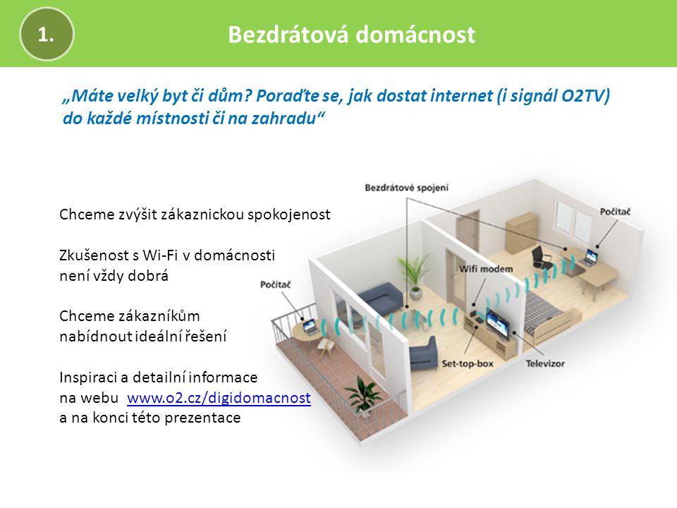 """Bezdrátová domácnost 1. """"Máte velký byt či dům Poraďte se, jak dostat internet (i signál O2TV) do každé místnosti či na zahradu"""