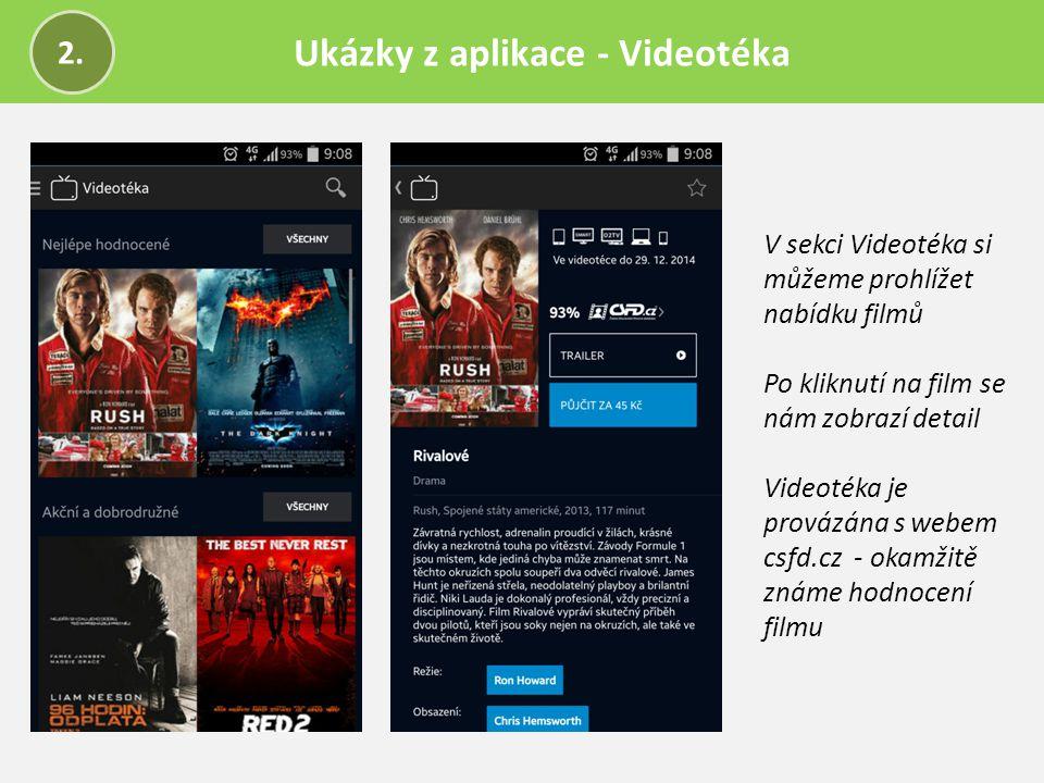 Ukázky z aplikace - Videotéka
