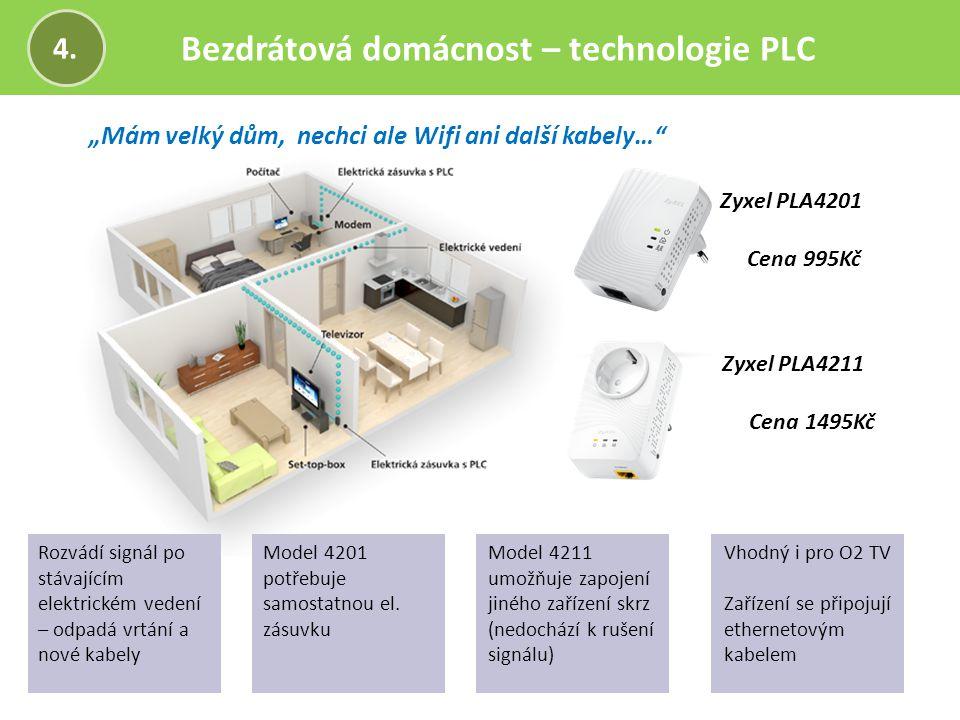 Bezdrátová domácnost – technologie PLC