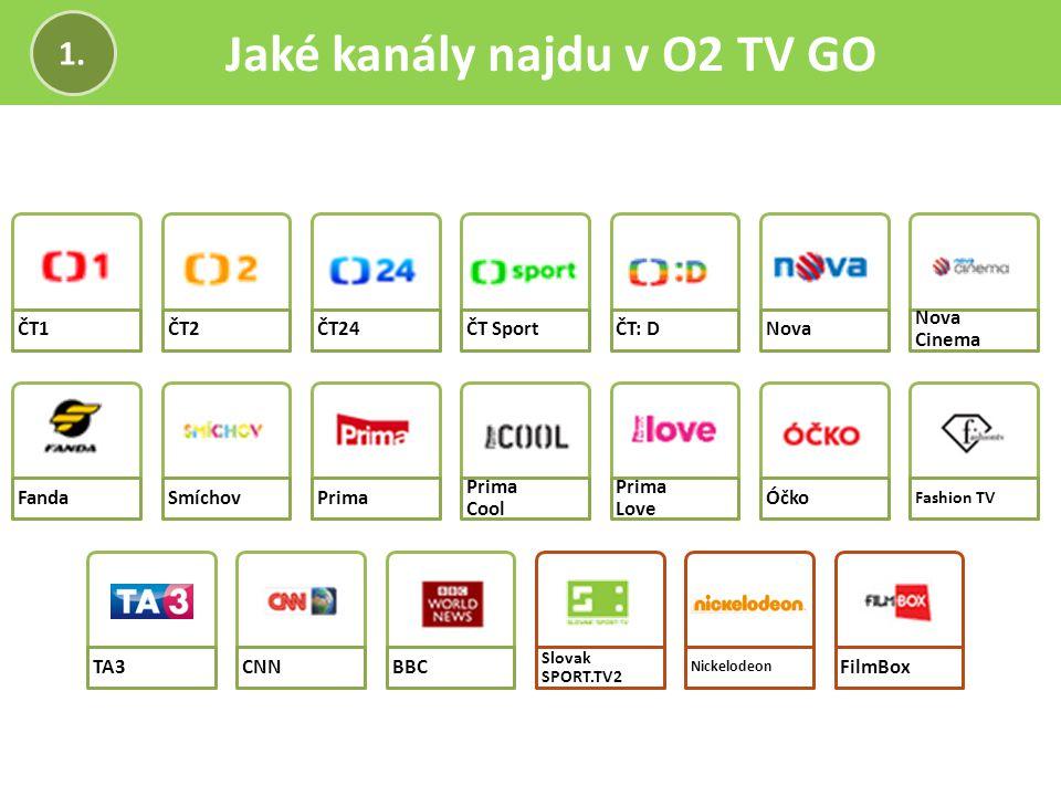 Jaké kanály najdu v O2 TV GO