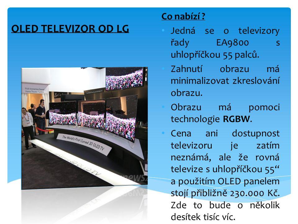 OLED TELEVIZOR OD LG Co nabízí