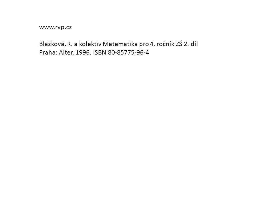 www.rvp.cz Blažková, R. a kolektiv Matematika pro 4.