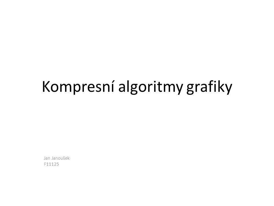 Kompresní algoritmy grafiky