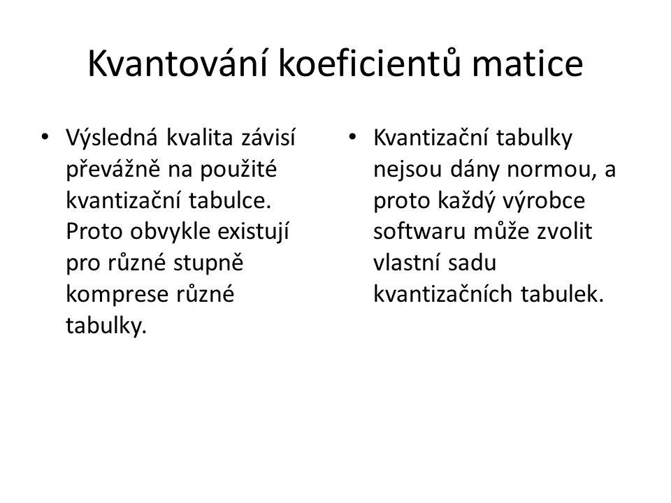 Kvantování koeficientů matice