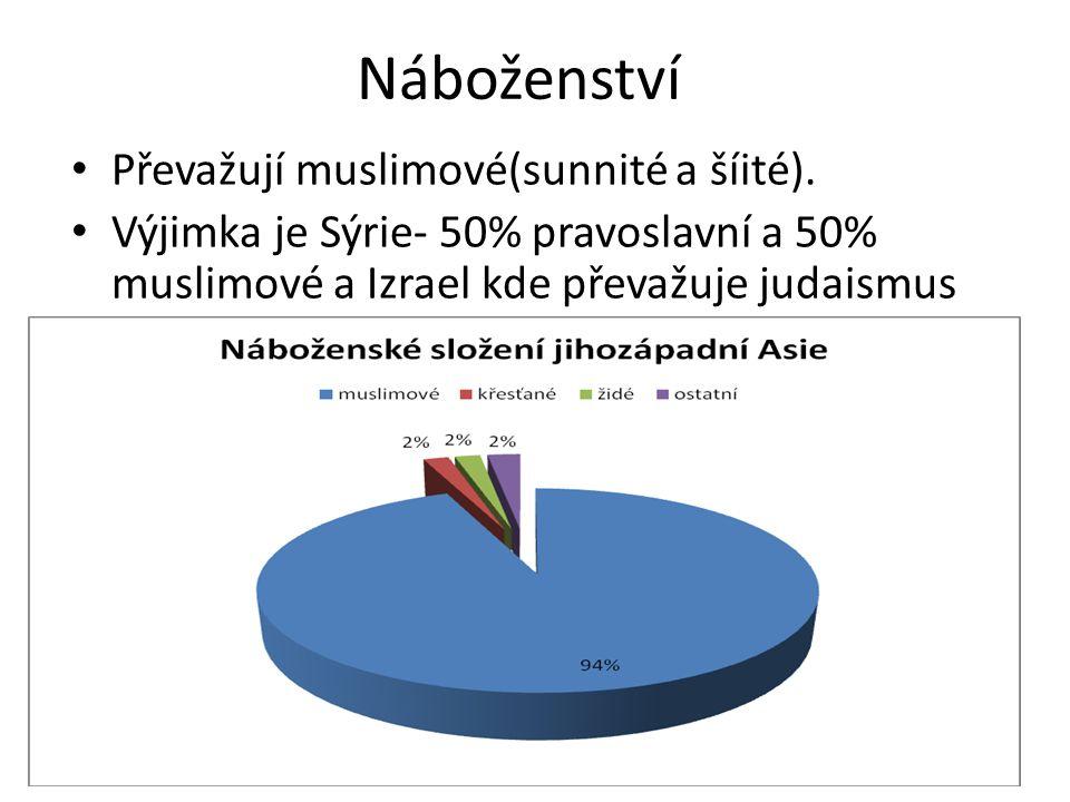 Náboženství Převažují muslimové(sunnité a šíité).