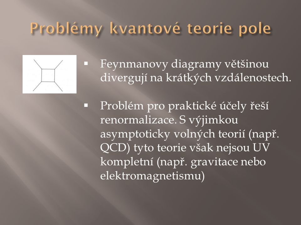 Problémy kvantové teorie pole