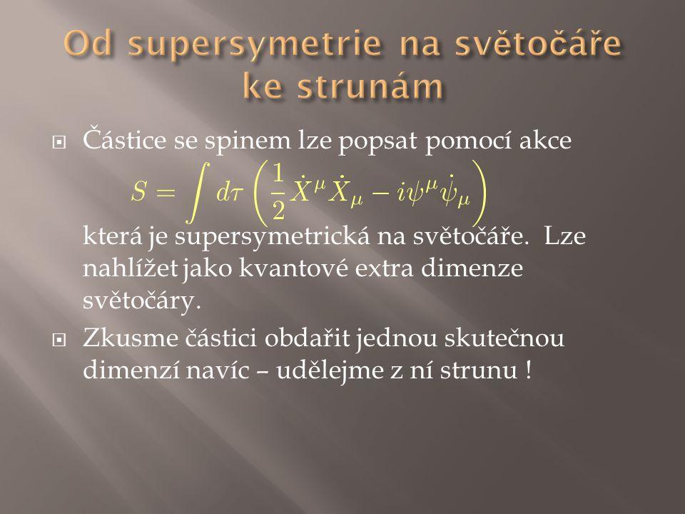 Od supersymetrie na světočáře ke strunám