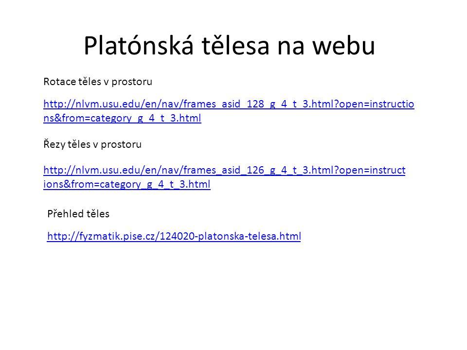 Platónská tělesa na webu