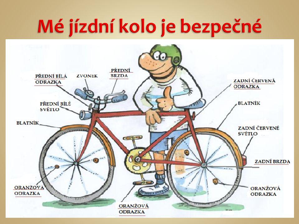 Mé jízdní kolo je bezpečné