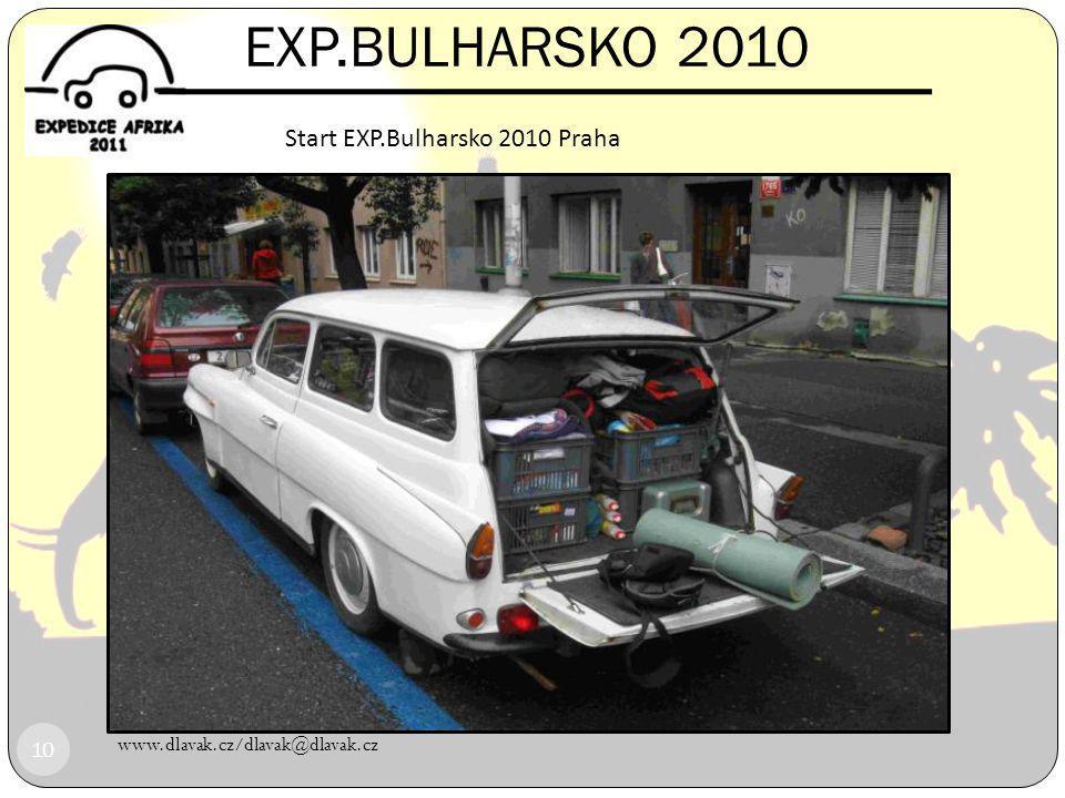 EXP.BULHARSKO 2010 Start EXP.Bulharsko 2010 Praha