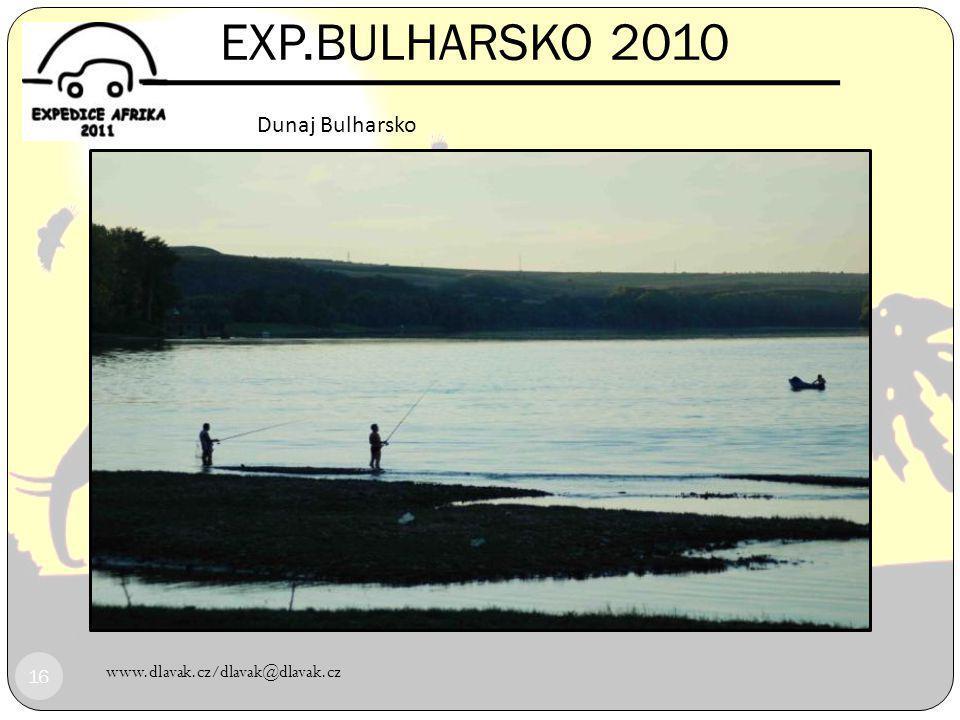 EXP.BULHARSKO 2010 DĚKUJEME ZA PODPORU Dunaj Bulharsko