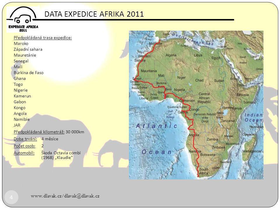 DATA EXPEDICE AFRIKA 2011 www.dlavak.cz/dlavak@dlavak.cz