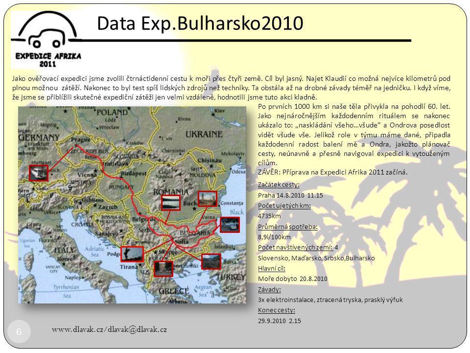 Data Exp.Bulharsko2010 www.dlavak.cz/dlavak@dlavak.cz