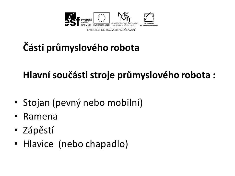 Části průmyslového robota