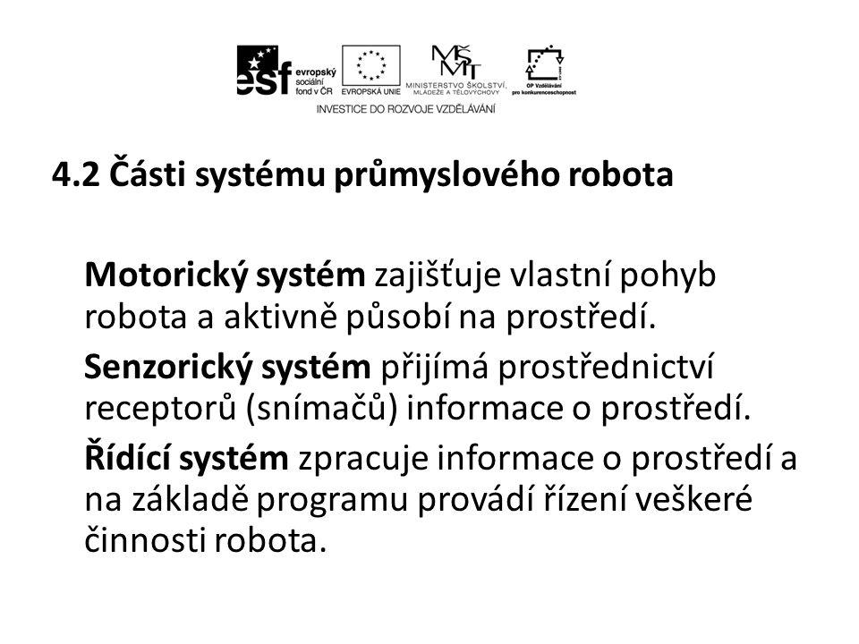 4.2 Části systému průmyslového robota