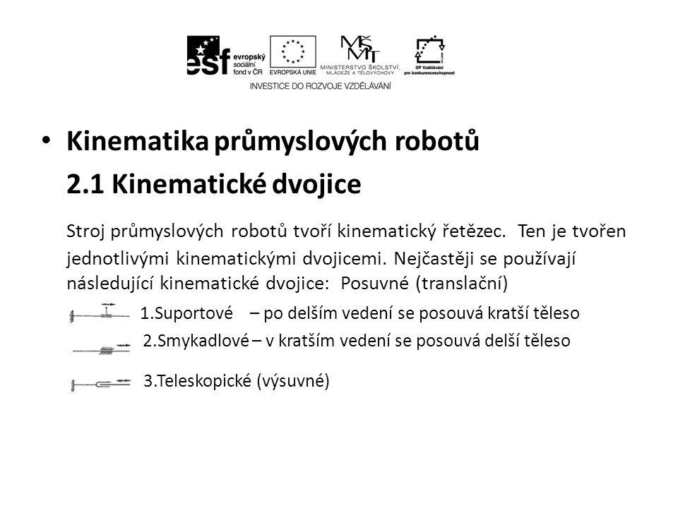 Kinematika průmyslových robotů 2.1 Kinematické dvojice