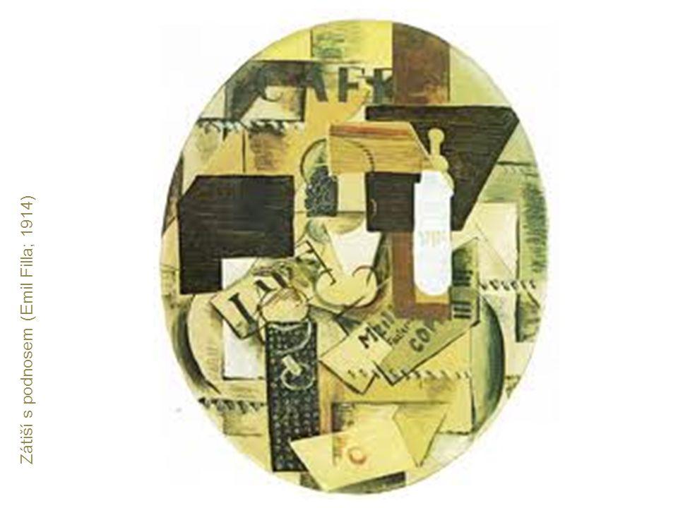Zátiší s podnosem (Emil Filla; 1914)