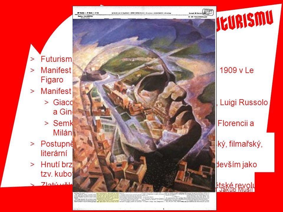 Futurismus má kořeny v Itálii