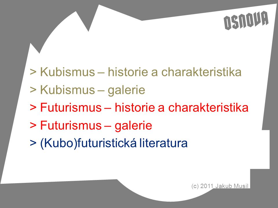 Kubismus – historie a charakteristika Kubismus – galerie