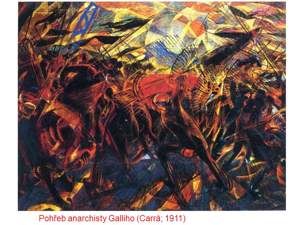 Pohřeb anarchisty Galliho (Carrà; 1911)
