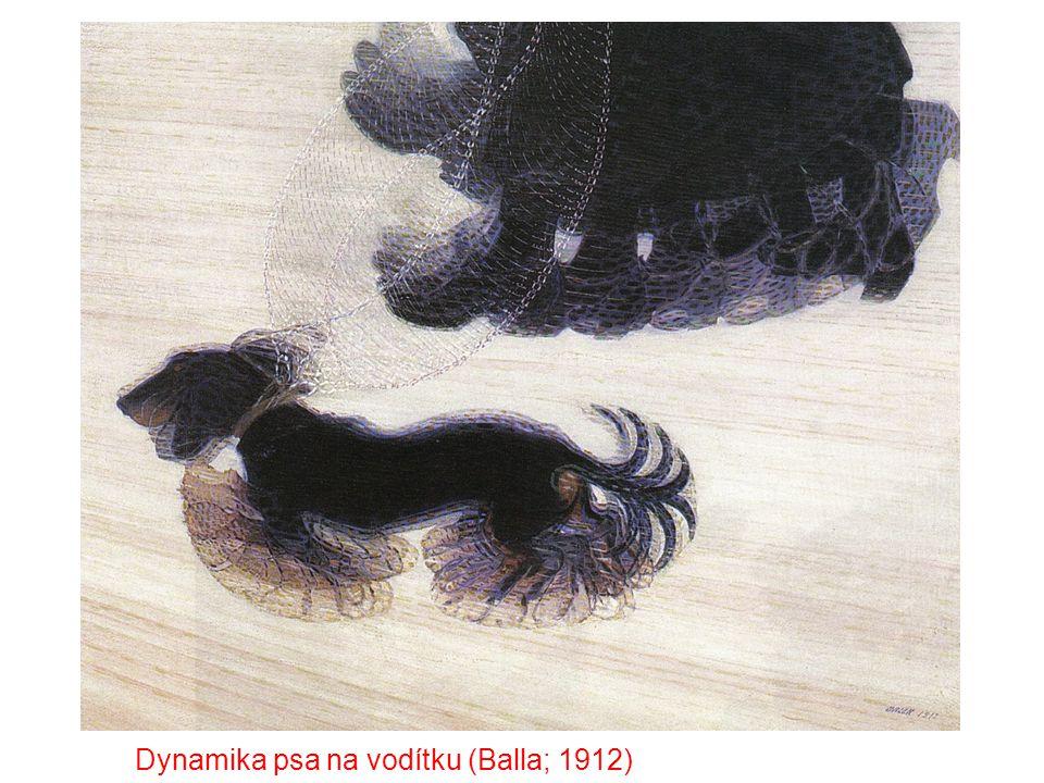 Dynamika psa na vodítku (Balla; 1912)