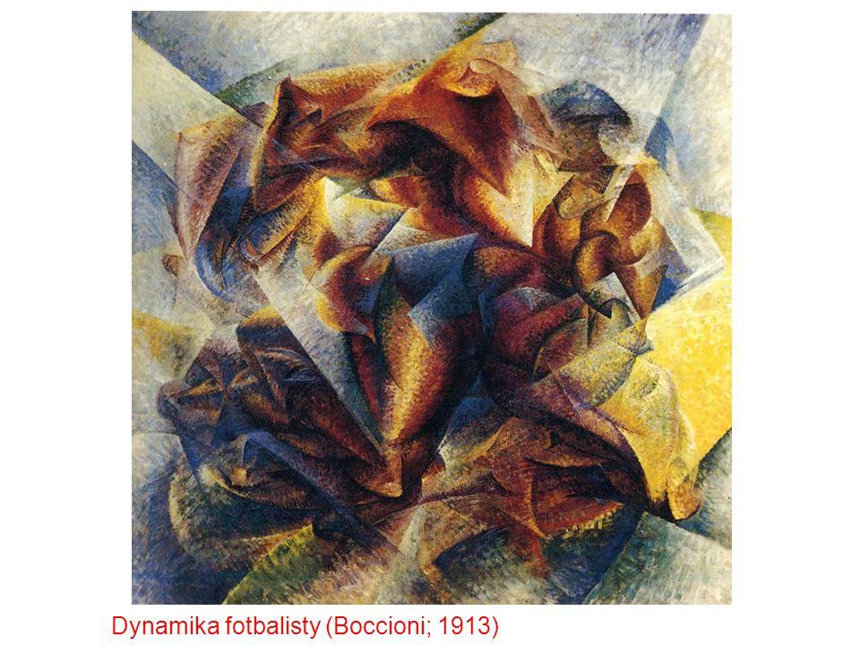Dynamika fotbalisty (Boccioni; 1913)