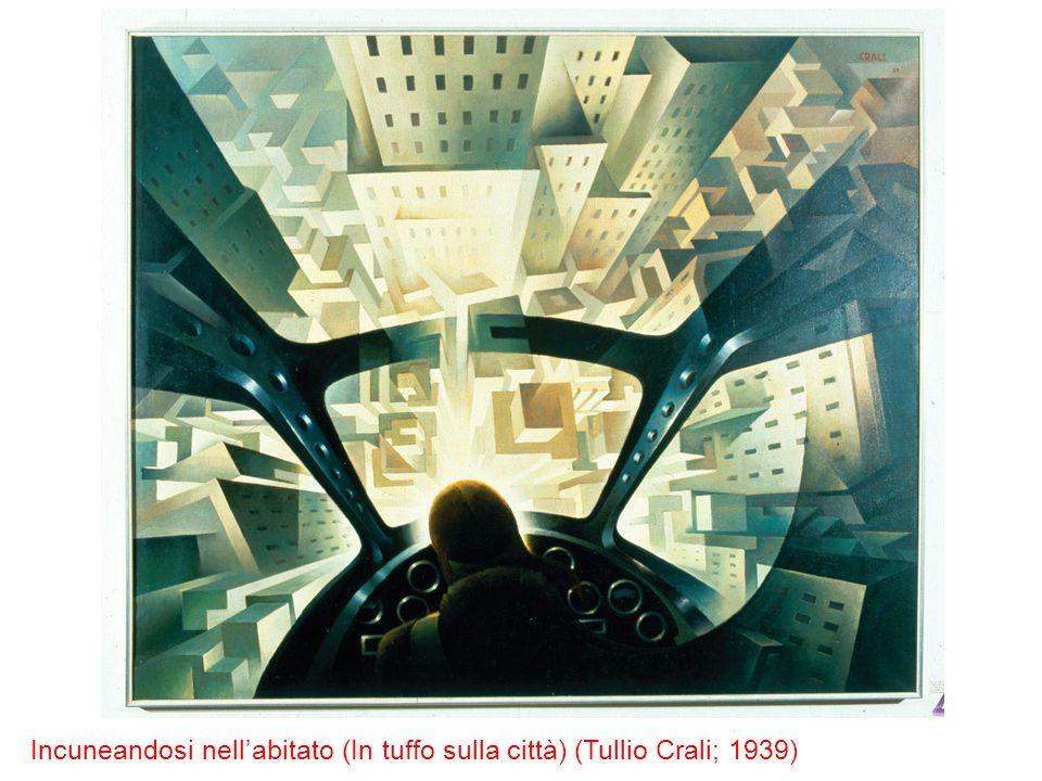 Incuneandosi nell'abitato (In tuffo sulla città) (Tullio Crali; 1939)