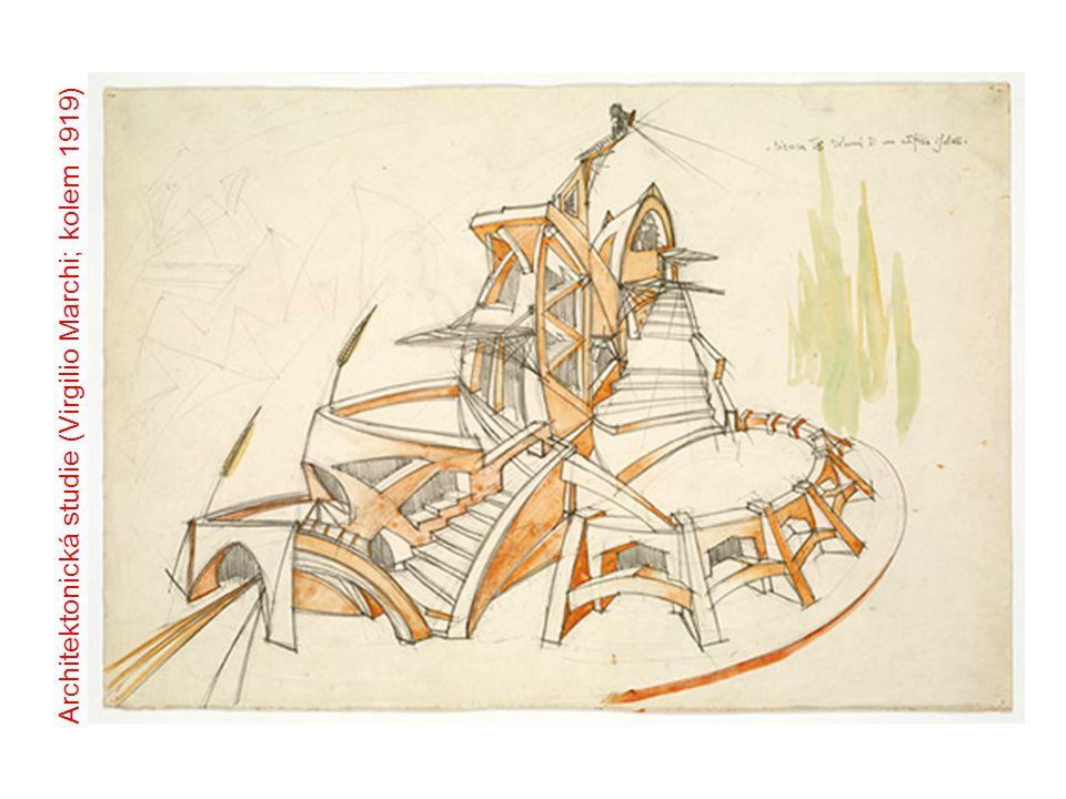 Architektonická studie (Virgilio Marchi; kolem 1919)