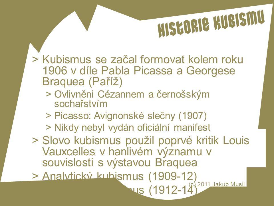 Analytický kubismus (1909-12) Syntetický kubismus (1912-14)