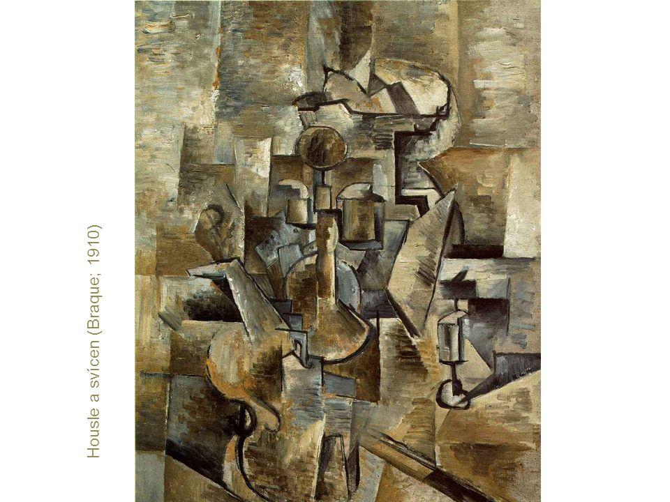 Housle a svícen (Braque; 1910)