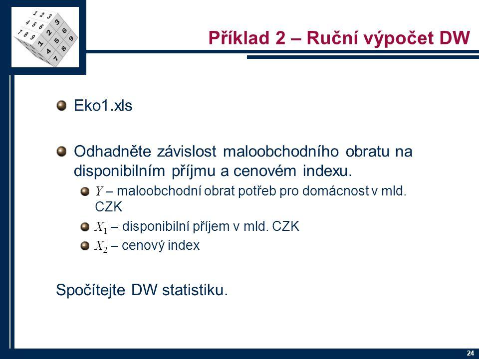 Příklad 2 – Ruční výpočet DW