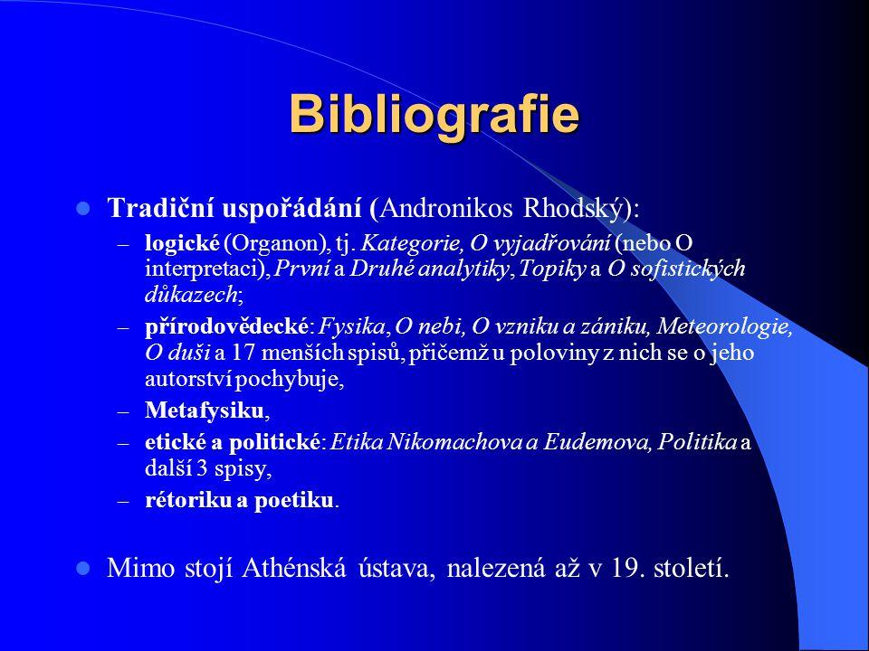 Bibliografie Tradiční uspořádání (Andronikos Rhodský):