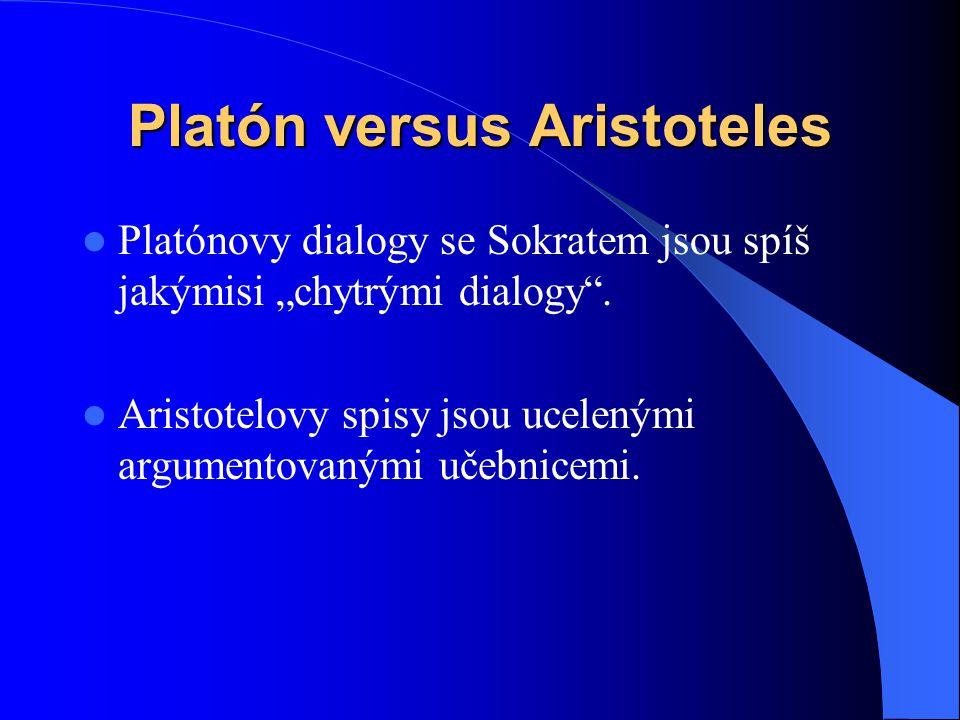 Platón versus Aristoteles