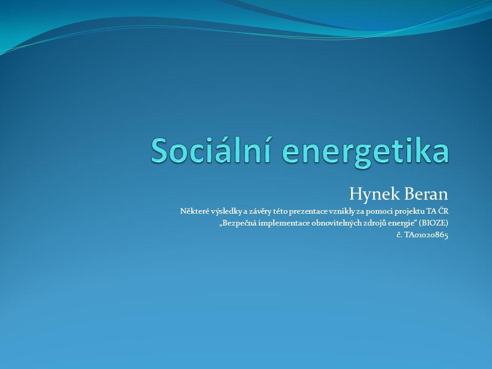 Sociální energetika Hynek Beran