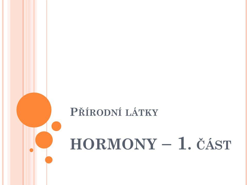 Přírodní látky hormony – 1. část