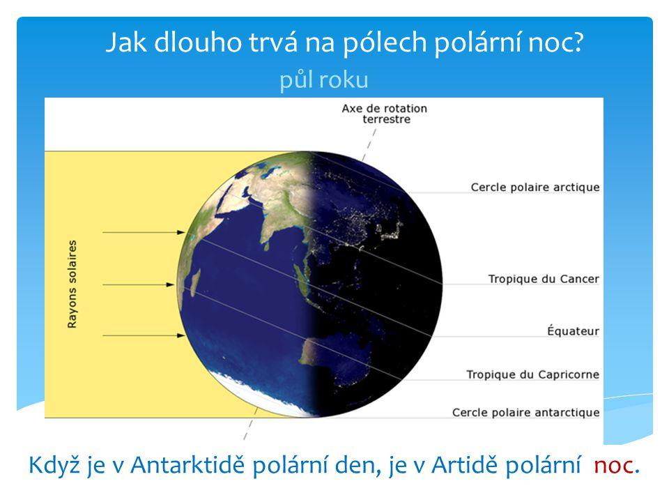 Jak dlouho trvá na pólech polární noc