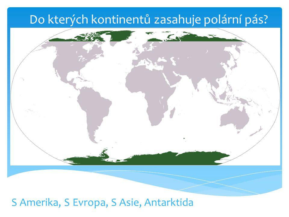 Do kterých kontinentů zasahuje polární pás