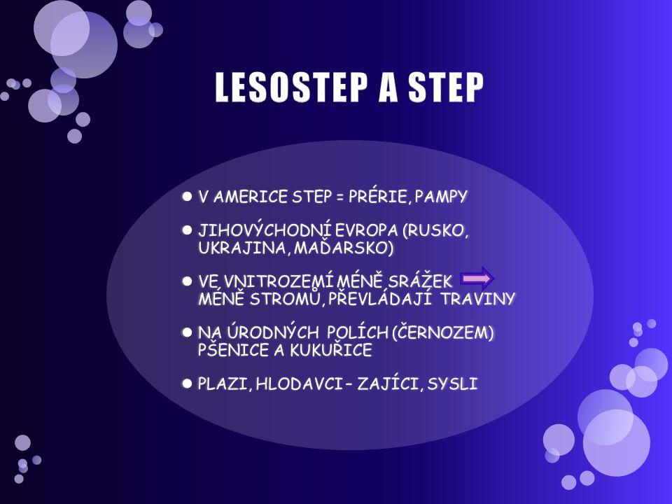 LESOSTEP A STEP V AMERICE STEP = PRÉRIE, PAMPY