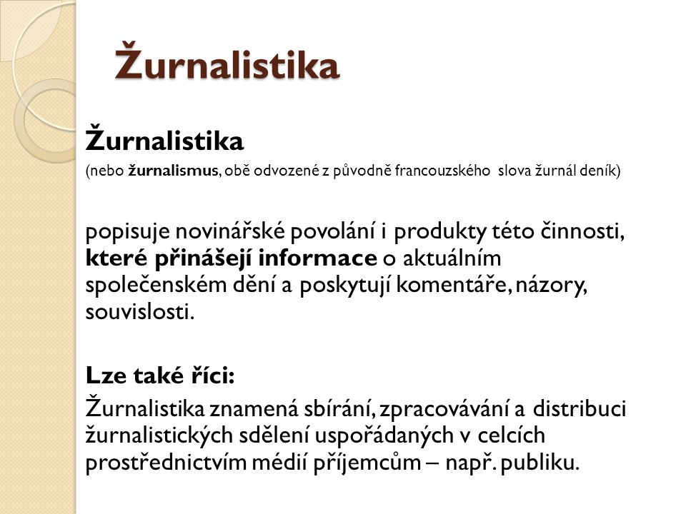 Žurnalistika Žurnalistika