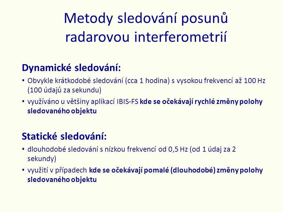 Metody sledování posunů radarovou interferometrií