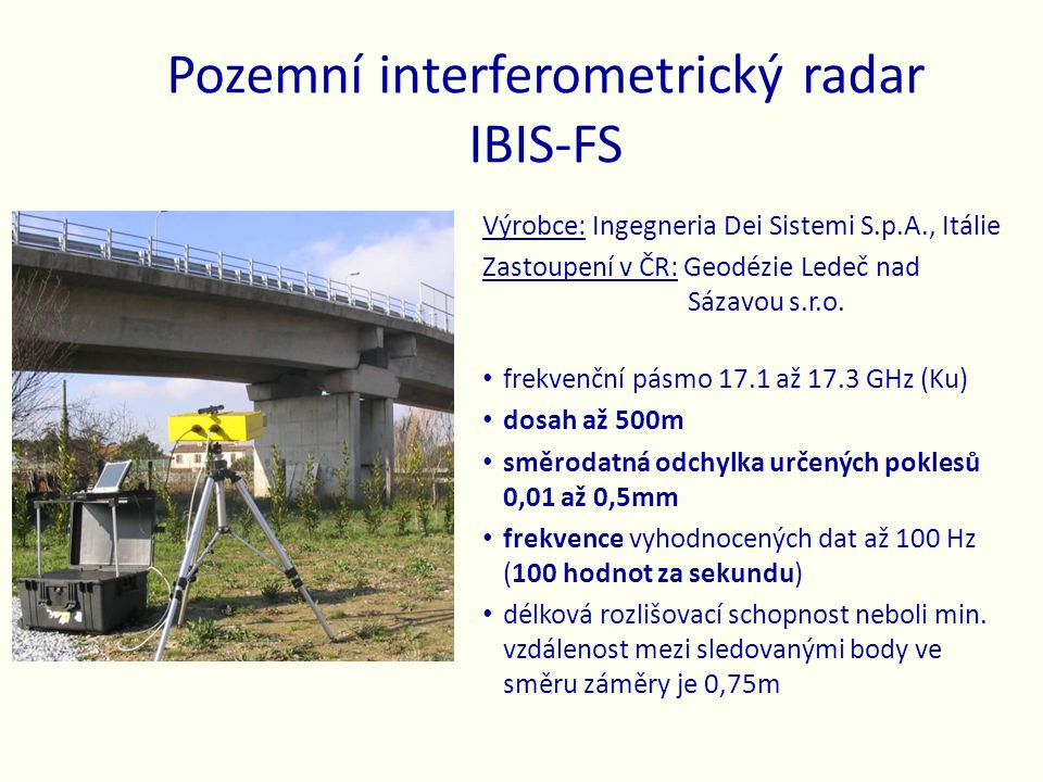 Pozemní interferometrický radar IBIS-FS