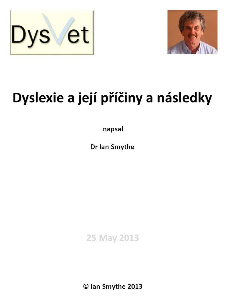 Dyslexie a její příčiny a následky
