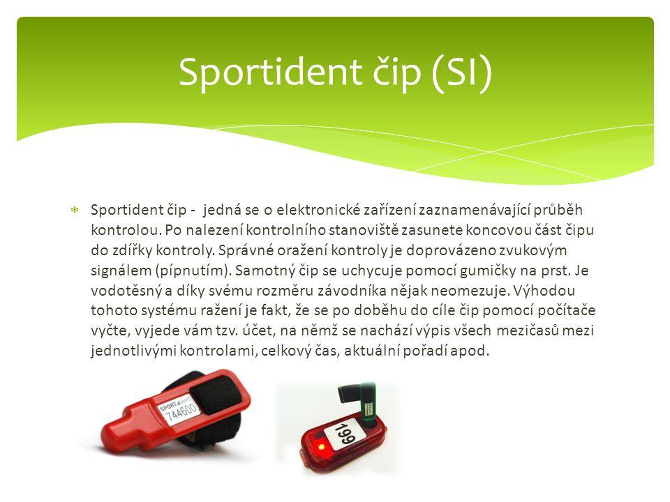 Sportident čip (SI)