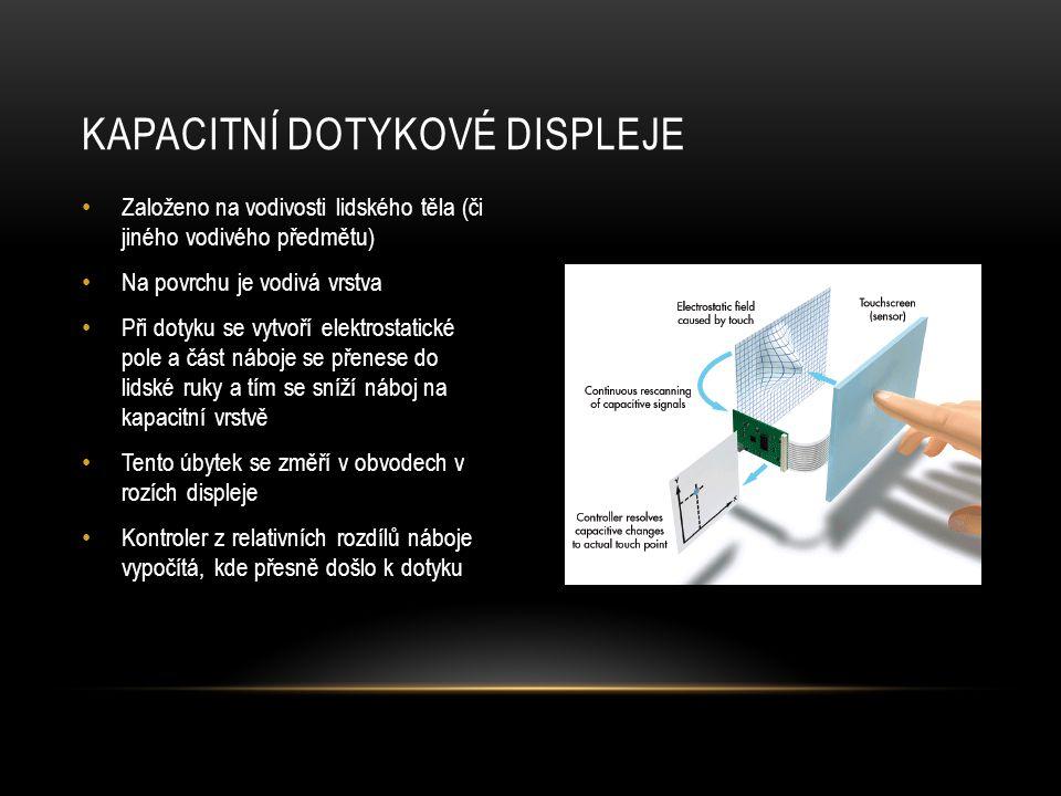 Kapacitní dotykové displeje