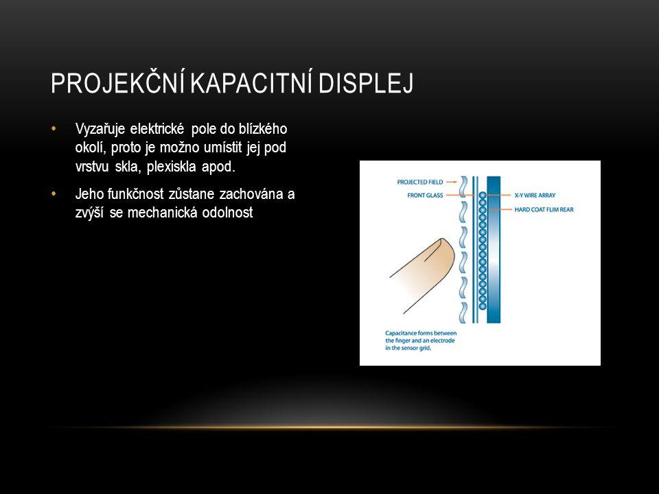 Projekční kapacitní displej