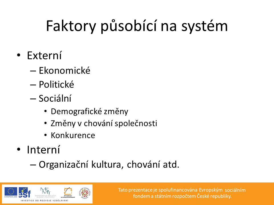 Faktory působící na systém